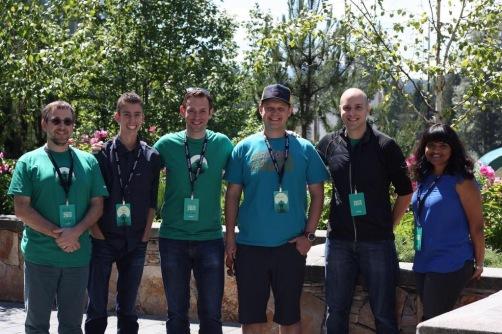 The Mozilla Web QA Team from left to right: Bob Silverberg, Justin Potts, Dave Hunt, Matt Brandt, Stephen Donner, Krupa Raj.